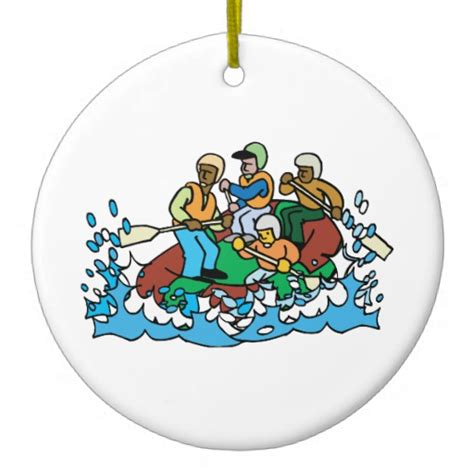 whitewater rafting trip graphic christmas ornaments zazzle