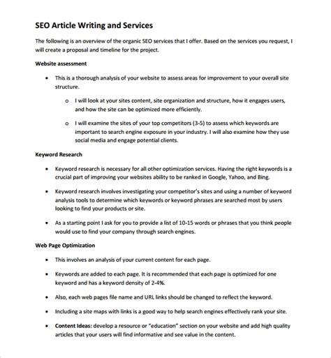 Seo Plan - sle seo plan template 7 free documents in pdf word