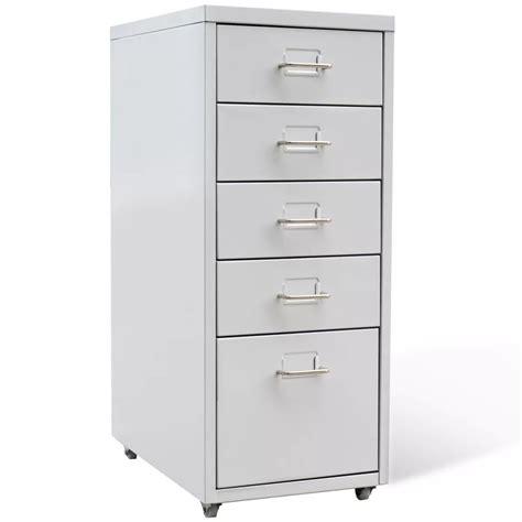 metal filing cabinet metal filing cabinet with 5 drawers gray vidaxl
