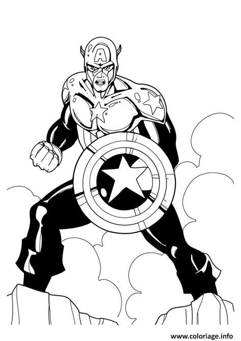coloriage colorier captain america  dessin