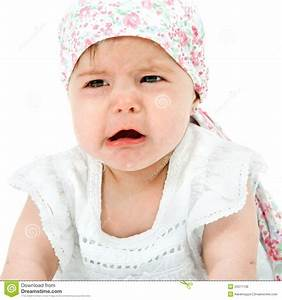 Baby Girl With Sad Face Expression. Royalty Free Stock ...