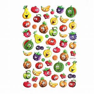 Small Puffy Fruit Stickers Hobbycraft