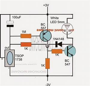 Remote Controlled Night Lamp Circuit