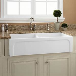 39quot risinger double bowl fireclay farmhouse sink With 39 inch farmhouse sink