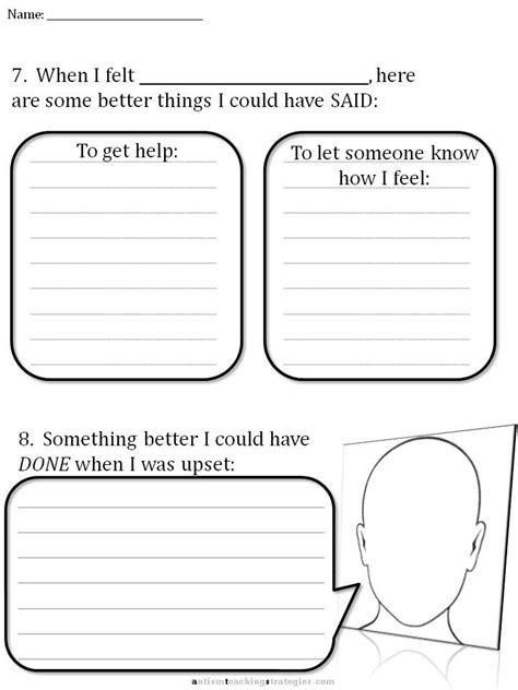 Cbt Worksheet 6  School  Pinterest  Autism And Worksheets