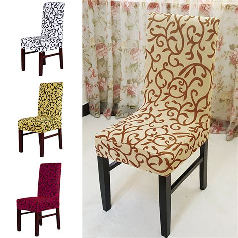 4 colors jacquard polyester spandex dining chair covers