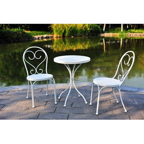 Small Patio Table Set by Mainstays Small Space Scroll Outdoor Bistro Set