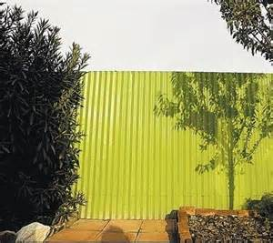 Painted Corrugated Metal Fence