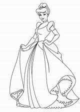 Coloring Cinderella Pages Popular sketch template