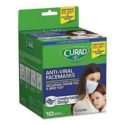 curad cur antiviral face mask  count  sale