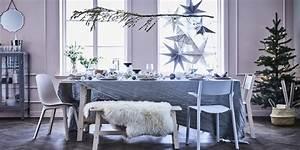 Table De Noel Blanche : comment dresser une table de noel marie claire ~ Carolinahurricanesstore.com Idées de Décoration