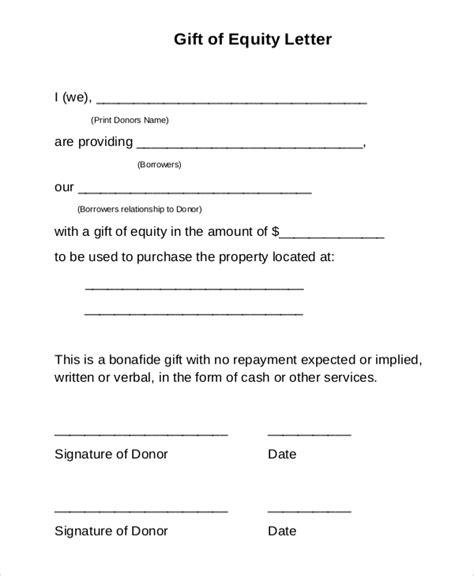 sle gift letter 9 sle gift letters pdf word sle templates