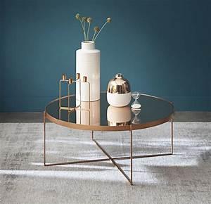Miroir Cuivre Rose : table basse ronde avec miroir en m tal cuivr com te maisons du monde ~ Melissatoandfro.com Idées de Décoration