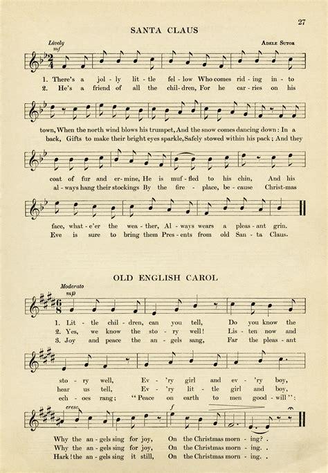 vintage christmas sheet music free download old design