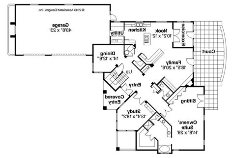 mediterranean home floor plans mediterranean house plans pasadena 11 140 associated