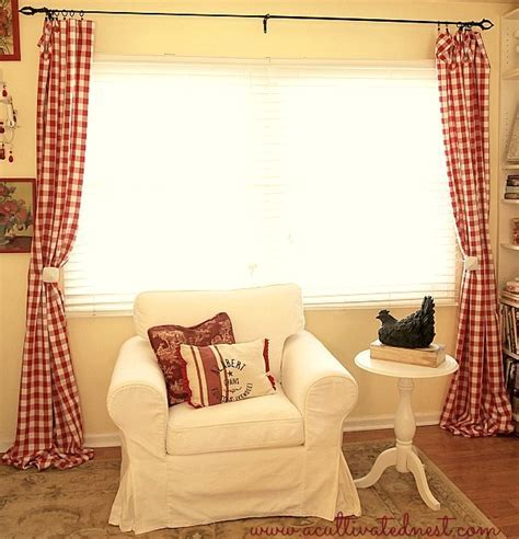 red and white checkered curtains   Home The Honoroak