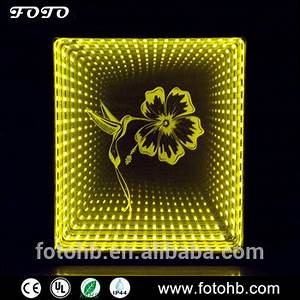 Magic Led Infinity Mirror Lighted 3d Image Reflection