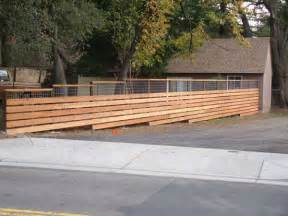 Horizontal Wood Fence Designs