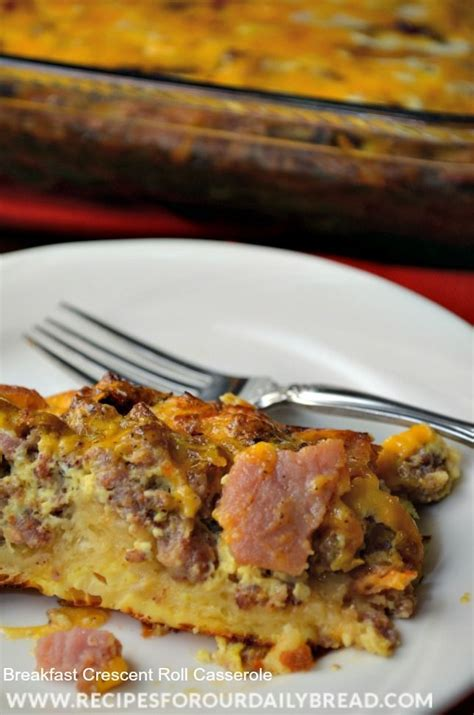 Sausage Egg Cheese Crescent Roll Casserole