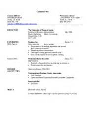 resume for bba graduates resume format resume format for bba students