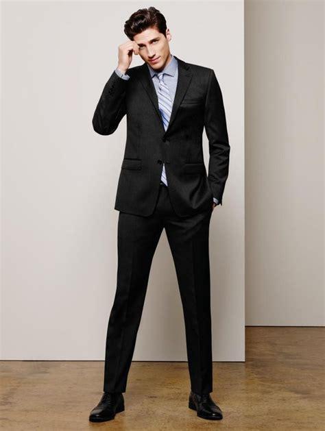 Calvin Klein Solid Wool Black Slim X Fit Suit | Wool Sexy and Wool suit