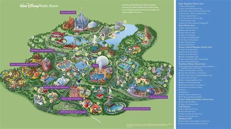 walt disney world maps parks  resorts