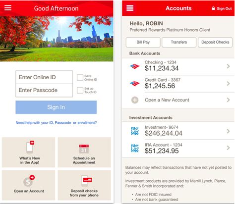 bank of america phone app bank of america app adds touch id apple support and