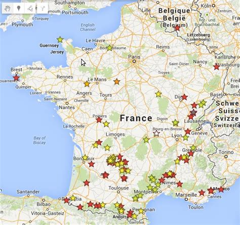 Carte Des Grottes Préhistoriques En by La Carte Du Tour Le Tour De Des Grottes