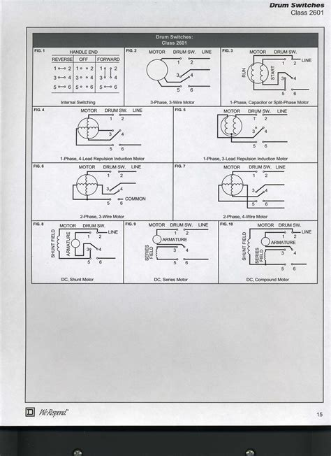 the wiring diagram for reversing a 110 v electric motor