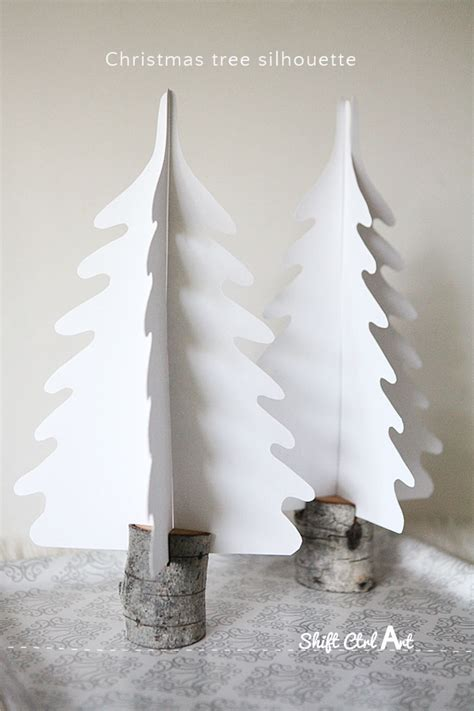 christmas village trees silhouette template dare to entertain silhouette christmas trees in diy