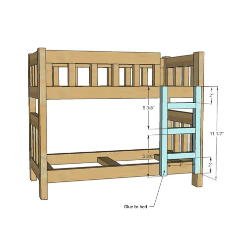 Ana White Headboard Plans by Ana White Camp Style Bunk Beds For American Or 18
