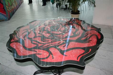 handmade plasma cut metal outdoor tables cafe porch