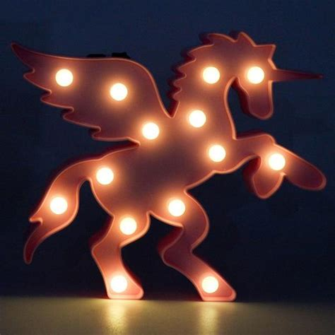 veilleuse cheval licorne aillee led chevaux passion