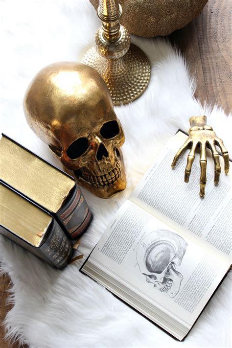 skull home decor 93 gold skull decor diy gilded skull vase crafts