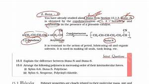 Ncertcbse Class 12 Chemistry Chapter 15 Polymers Part 9