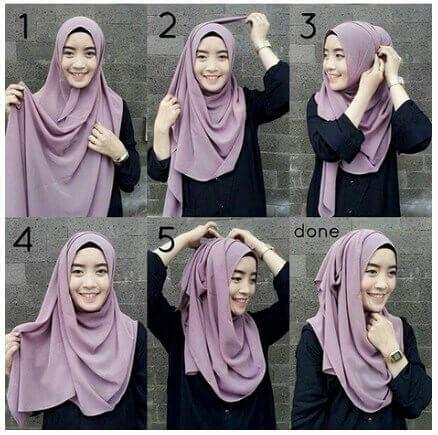 tutorial hijab  ciput ninja jarum pentul