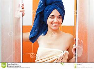 Girl after shower royalty free stock photo image 25019475 for Bathroom girls pic