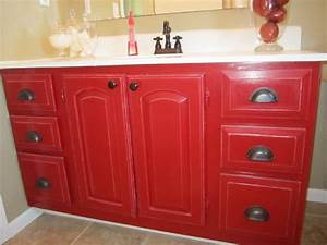 red painted bathroom vanity bathroom vanities ideas With painted vanities bathrooms
