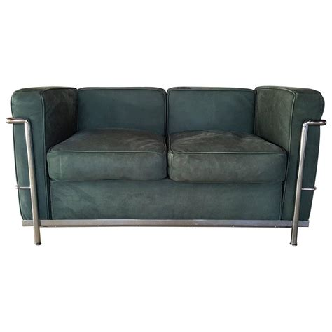 green sofas for sale le corbusier two seat sofa loveseat green suede and