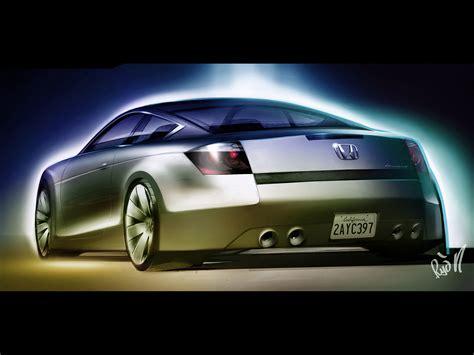 2007 Honda Accord Coupe Concept Sketch Rear Angle
