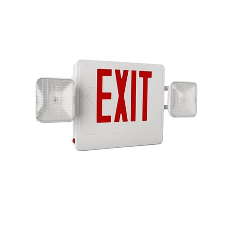 standard led exit sign emergency light combo battery