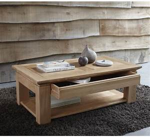 Table Basse Chene Clair : table basse chene table salon bois metal trendsetter ~ Teatrodelosmanantiales.com Idées de Décoration