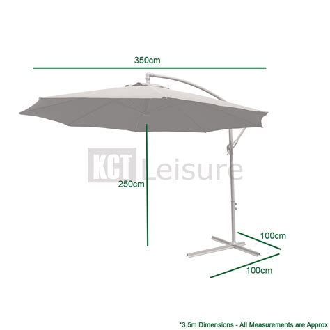 large hanging patio umbrella large garden cantilever parasol with crank for patio shade