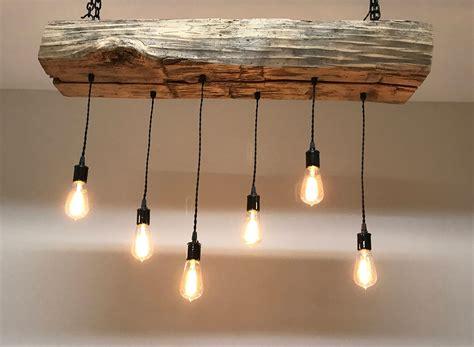wooden light fixtures reclaimed barn sleeper beam wood light fixture with led edison
