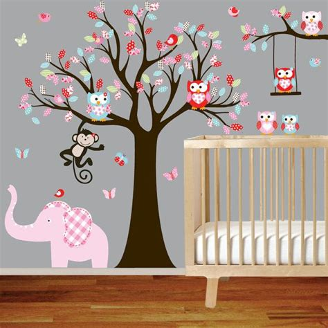 ON SALE Tree Decal Nursery Wall Stickers Colorful by