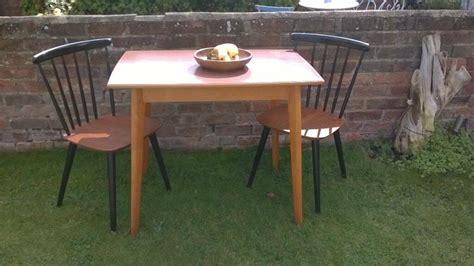 retro   kitchen table vintage wood efect formica