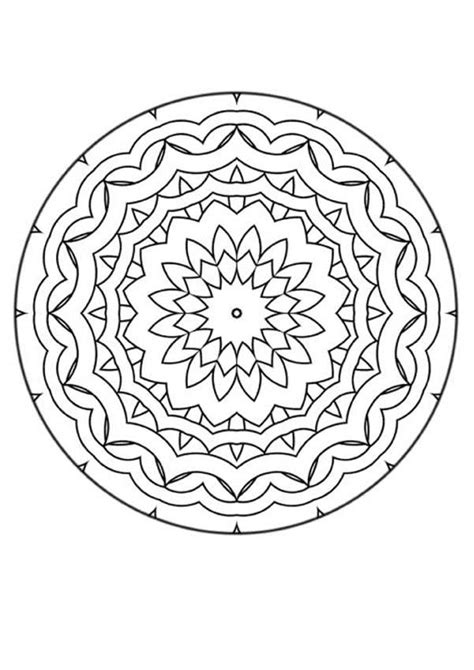 Stress Relief Mandala Coloring Pages Printable