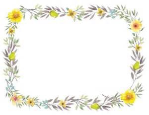 Printable Flower Border Templates
