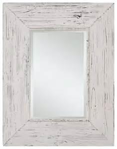 wilkes distressed white rectangular mirror rustic bathroom