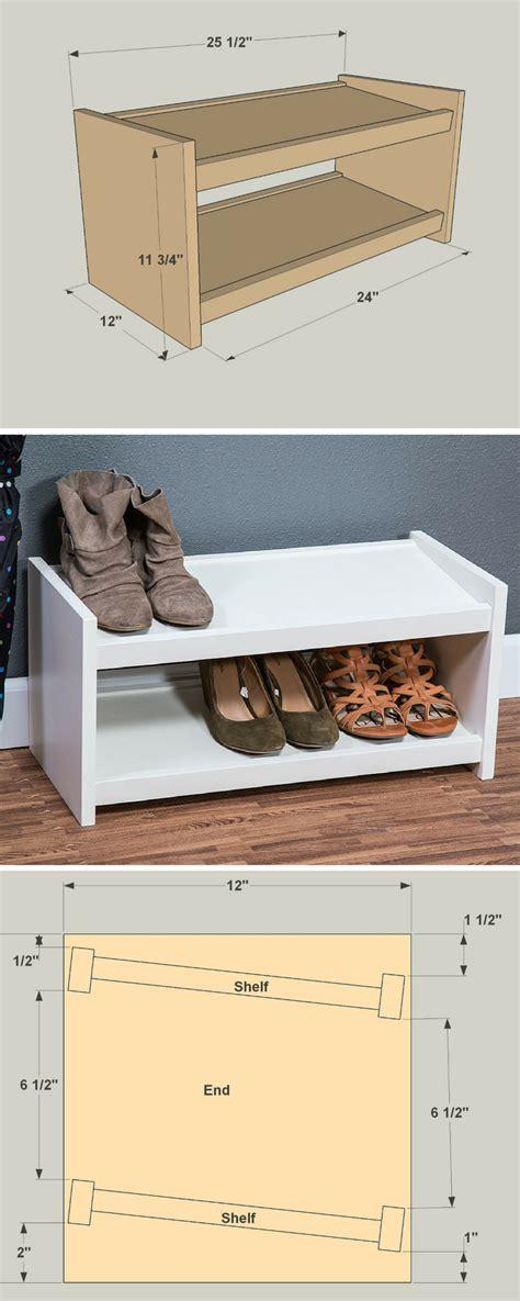 diy shoe storage rack  project plans